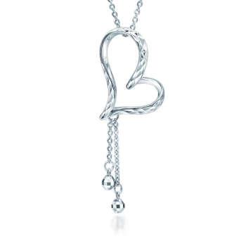 周生生pt950铂金心形吊珠项链