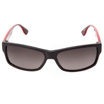 EMPORIO ARMANI 安普里奥·阿玛尼 女款黑色拼红色镜框灰色渐变镜片眼镜太阳镜 ¥496