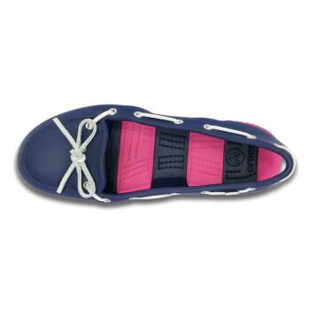卡骆驰crocs女士海滩帆船鞋系带鞋