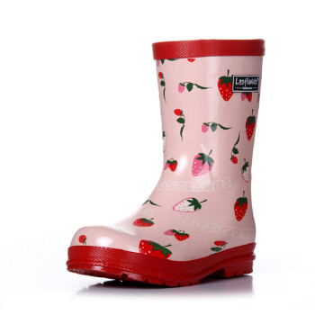 草莓雨鞋儿童雨鞋