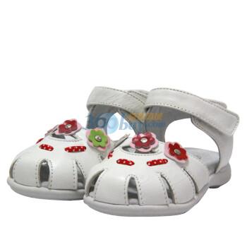 款女童包头凉鞋纯羊皮鞋