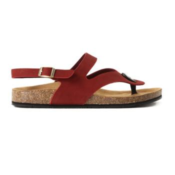 牧宝女士夏季清凉软木底养生型健康凉鞋限量款