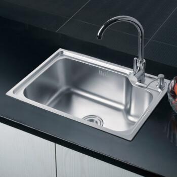 不锈钢 厨房 邦斯特/邦斯特水槽不锈钢单槽厨房洗菜盆洗碗池6243