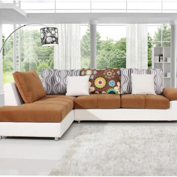 Y88双人位加贵妃布艺沙发 大小户型客厅组合左右贵妃沙发 尺寸可定图片