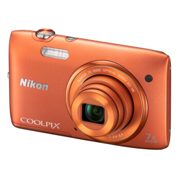 Nikon 尼康 COOLPIX S3500 便携数码相机(橙色)788元包邮