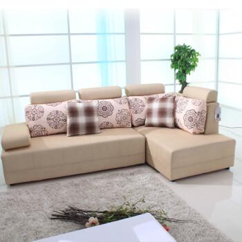 型客厅组合左右贵妃布艺沙发 尺寸可定做 纳米面 联系客服定制颜色 图片