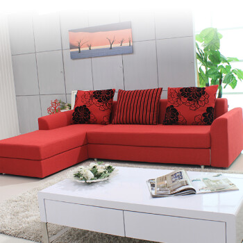型客厅组合左右贵妃布艺沙发 尺寸可定做 纳米面料 样品色 左贵妃全套图片