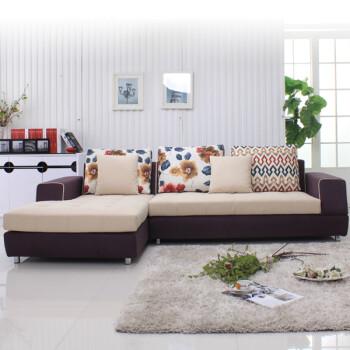 型客厅组合左右贵妃布艺沙发 布套可拆洗 面料任 联系客服定制颜色 图片