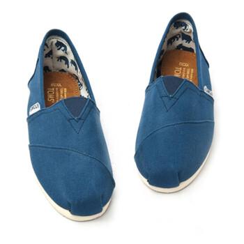 低帮套脚一脚蹬布鞋