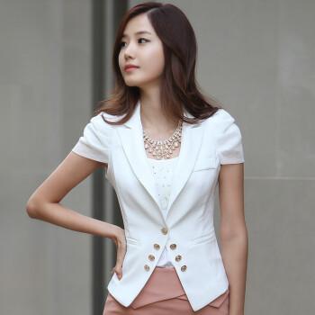 韩国女装白领ol修身小西装短袖西服外套职业装短外套