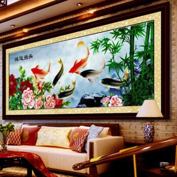 绣艺 精准印花十字绣 装饰画 客厅大画 十字绣套件装 鸿运当头年年有图片