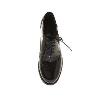 哥弟女鞋2013新款复古英伦风时尚牛漆皮绅士鞋雕花