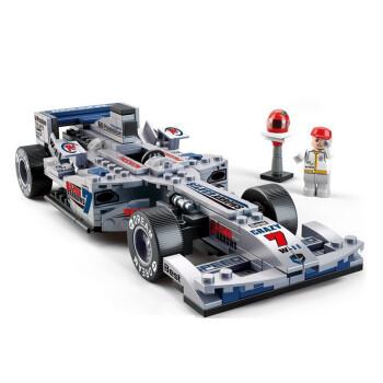 小鲁班益智积木拼插玩具 F1赛车系列1 24银箭F1方程式赛车