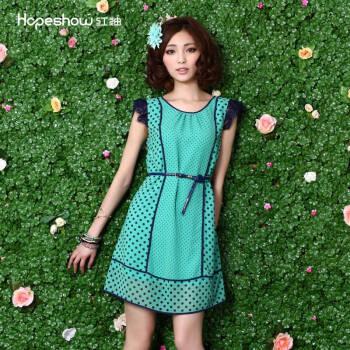 连衣裙e3170432 粉绿色