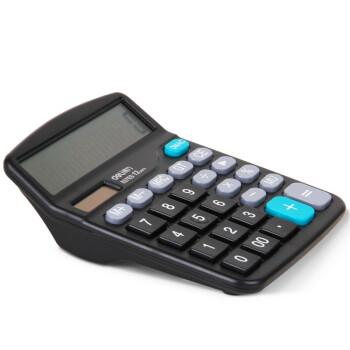得力(deli) 837ES 桌面通用办公计算器 12位大屏幕 双电源