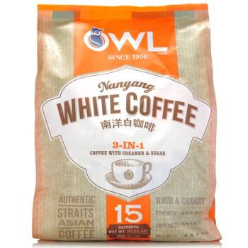 新加坡进口 owl猫头鹰3合1南洋白咖啡600g
