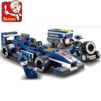小鲁班0351小鲁班积木 方程式赛车1 32F1蓝光赛车 儿童拼装益智玩具
