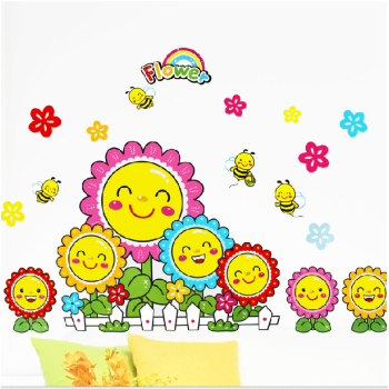 特价新款儿童房卡通教室布置幼儿园过道可移除墙贴纸