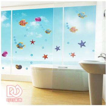 卡通卫生间浴室教室布置幼儿园可移除墙贴纸图片