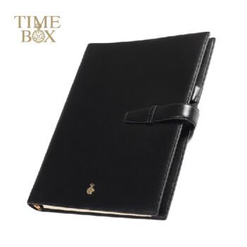 TIMEBOX B5真皮高档记事本商务 16K牛皮记录本活页笔记本TB1606TL-15 咖啡色