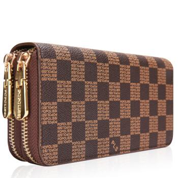 珀莉丝男士女士通用长款钱包手拿包钱夹卡夹双拉链