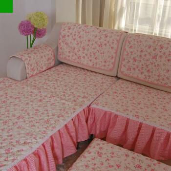 园风光纯棉防滑沙发垫坐垫有套餐 苏菲公主 小L型沙发垫套装
