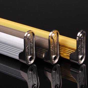 致尚 铝合金衣柜杆 加厚型衣厨杆电泳挂衣杆 送配件 银白色 120cm