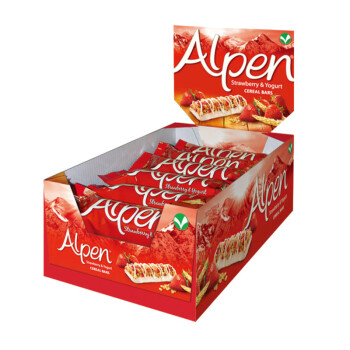 Weetabix 维多麦 Alpen 欧宝 草莓酸奶谷物棒 — 美好的一天,从吃开始