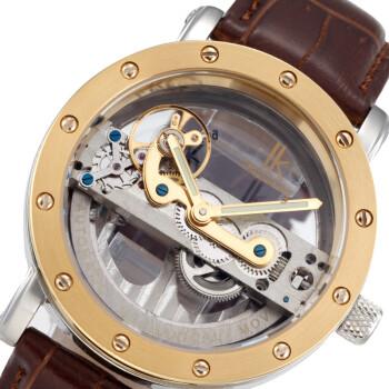 IK阿帕琦男表皮带机械表 双面镂空全自动机械表 时尚个性男士手表 金