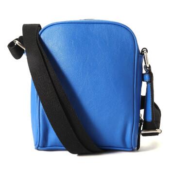 新款蓝色真皮男士斜挎包