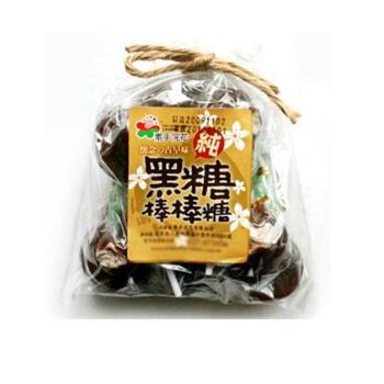 浣花 台湾进口黑糖话梅糖棒棒糖果 夹心糖140g