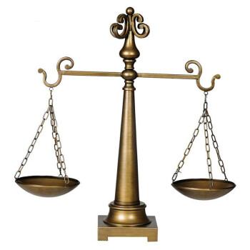 saree (莎芮) 欧式 正义公平秤 天秤创意摆设 家居工艺品 合金公平秤
