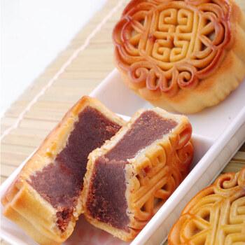 传统糕点月饼 洗沙红豆沙月饼50g 中秋佳节送礼 老少皆宜 与茶相伴