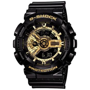 卡西欧(CASIO)手表 G-SHOCK系列时尚魔金双显运动石英男表GA-110GB-1A