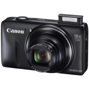 佳能(Canon) PowerShot SX600 HS 数码相机 黑色(1600万像素 18倍光变 3英寸高清屏 25mm广角 WiFi/NFC)