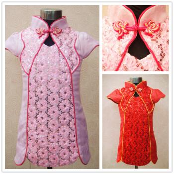 儿童唐装新年节日礼服中国民族装
