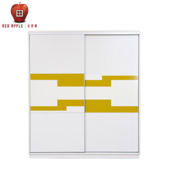 红苹果家具简约现代板式组合推拉趟门2门衣柜衣橱r925t花纹系列 th