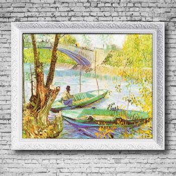 手绘油画 花卉抽象风景世界名画客厅卧室玄关装饰画 印象斑斓 春天