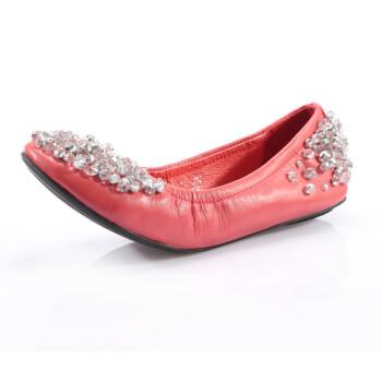 惬意2013春装新款女鞋真皮鞋平底鞋平跟单鞋女包邮y2