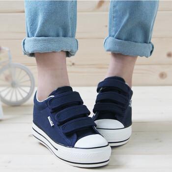 夏季白色厚底帆布鞋松糕鞋
