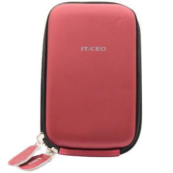 IT-CEO V313-C 2.5英寸移动硬盘/电源保护包 保护套 PU料数码收纳/相机/整理/配件包 防震防水 烈火红