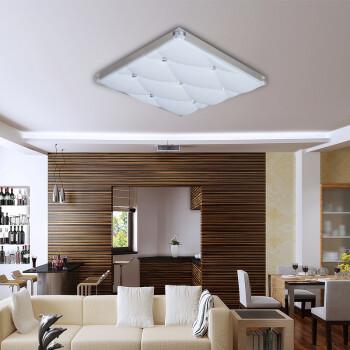 海德(HAIDE) 合金铝水晶 LED方形吸顶灯 24W 高亮高端