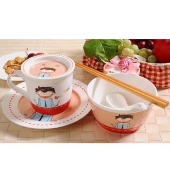 亿嘉IJARL 德国设计时尚骨瓷早餐具套装 中式家庭6件套Goodmorning爸爸F153ADS003
