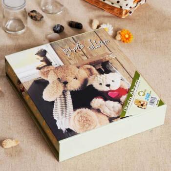 益好 大6寸相册影集 照片相簿 泰迪熊 插页式相册 创意生日礼物实用 DIY 宝宝相册 两只泰迪熊