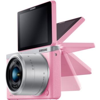 三星(SAMSUNG) NX mini 微型单电套机 (9mm-27mm) (粉色) WIFI无线 NFC传输 内附16G卡