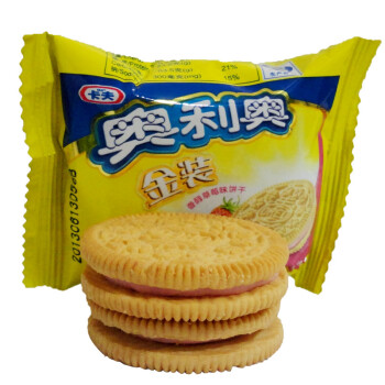 卡夫 奥利奥 金装 香醇草莓味夹心饼干1000克 2片装