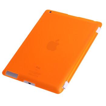 IT-CEO V3I2B 苹果The new iPad/2/3/4保护套/皮套后壳(需购买V3I2A iPad保护套配合使用) 透明橙