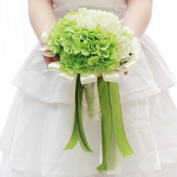 新娘高仿真绣球手捧花 婚庆礼用品 绣球手捧绿色