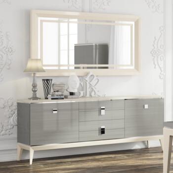 简约家具 实木餐边柜 橱柜 储物柜厨房柜烤漆 VE N906 餐边柜