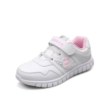 巴布豆男女儿童白色运动鞋